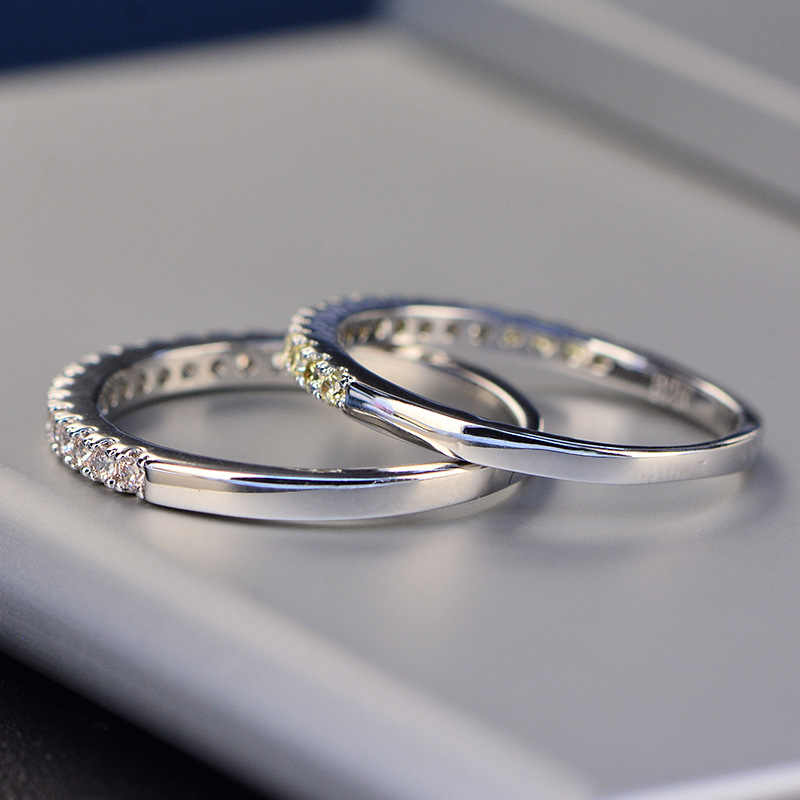 Anillo clásico exquisito para mujer, anillo de compromiso de boda, anillos de dedo redondo sólida plata 925
