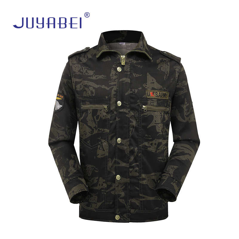 Tactical Camouflage Suit Summer Military Jacket + Trousers Men's Commando Outdoor Military Enthusiasts Training Wear Overalls
