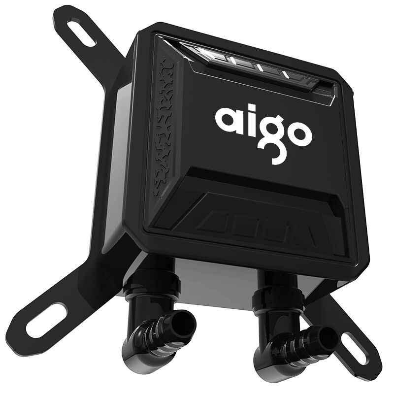 Aigo أورورا قوس قزح حافظة كمبيوتر تبريد المياه مروحة كمبيوتر وحدة المعالجة المركزية المتكاملة تبريد المياه برودة ل LGA 775/115x/AM2/AM3/AM4 مجاني شي