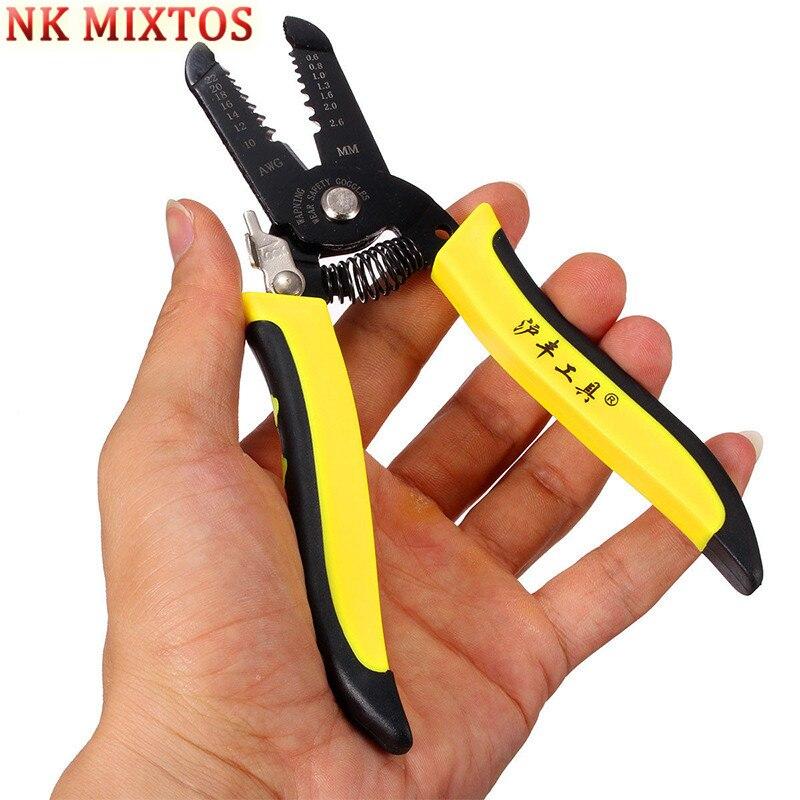 Werkzeuge Tragbare Abisolierzange Zange Crimper Kabel Abisolieren Crimpen Cutter Multi Funktionale Hand Werkzeug Für Elektrische