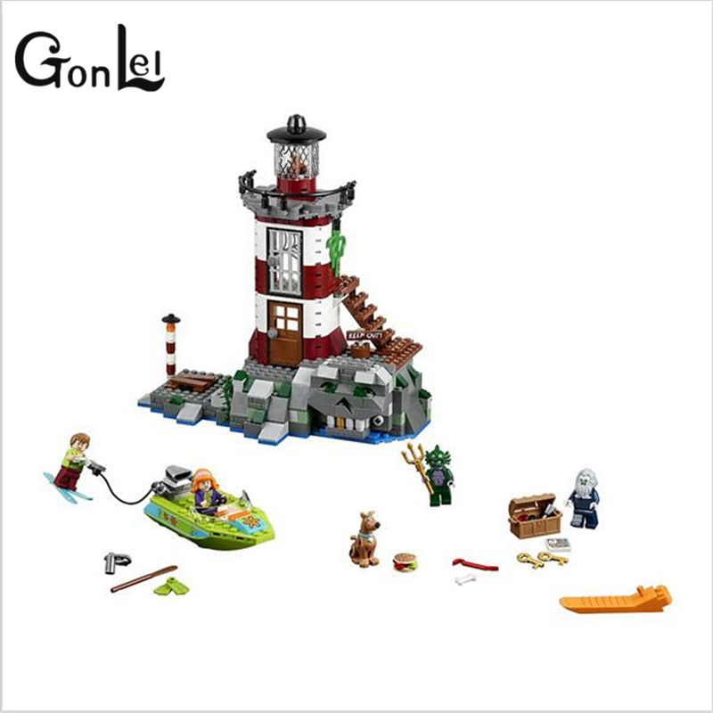GonLeI 2016 NEW Bela 10431 Haunted Lighthouse Scooby Doo Model Bricks Blocks 3D Kids Toy GiftsChristmas gift toys  Lpin ynynoo 437pcs bela 10431 haunted lighthouse scooby doo dog model friends bricks blocks 3d kids toy gifts p032