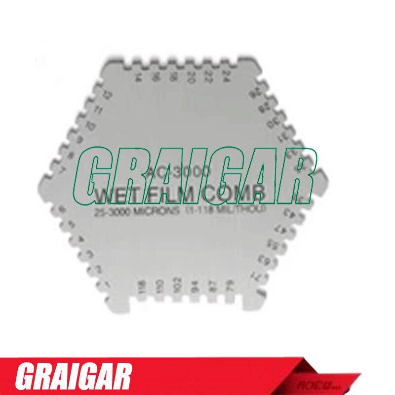 Hexagonal Wet Film Comb For Coating AC-3000 Wet Film Thickness Gauge cm 8000 hexagon wet film comb