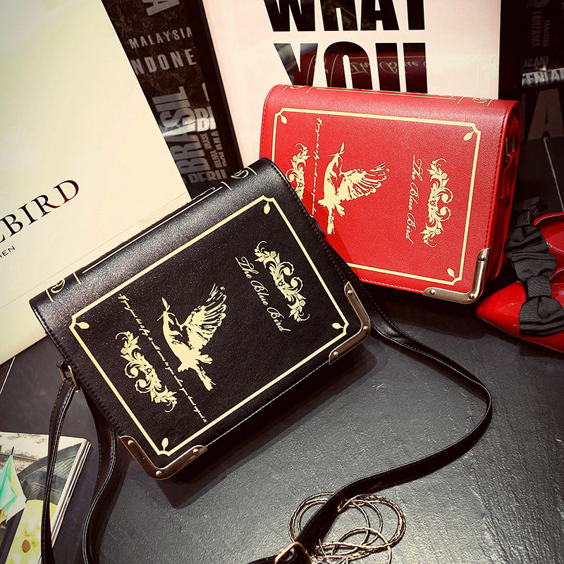 Harry Potter Magic Dictionary Book Shape Shoulder Bags Lady Small Crossbody Bag PU Leather Women Messenger Bags Bolsa Feminina