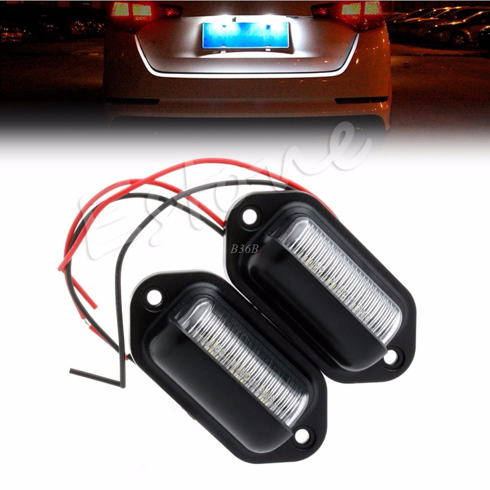 2x 6 LED Licence Number Plate Light Lamp Van Trailer Truck Ute Boat Caravan 12V MAY12 2x 12v bright 3leds license plate light lamp bulbs number plate light for motorcycle boats aircraft automotive trailer rv truck