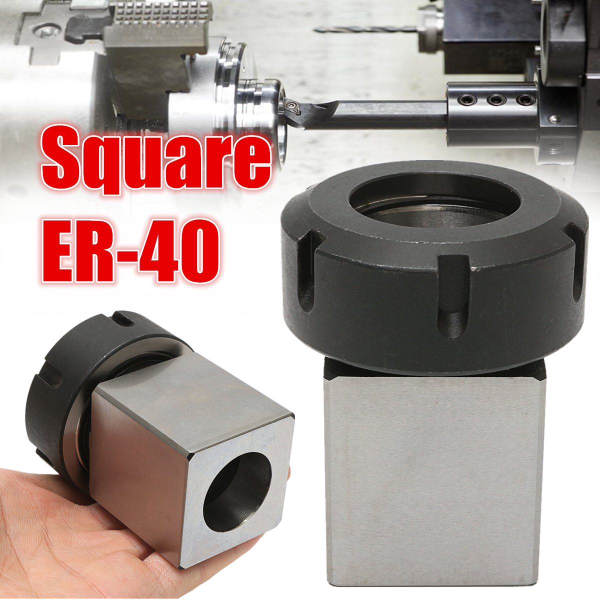 New High Strength ER-40 3900-5125 Square Collet Chuck Block Holder For CNC Lathe Engraving Machine CNC Machines useful 15pcs set 2mm 16mm er25 precision spring collet for lathe chuck for cnc milling engraving machine best price