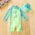 Детский купальный костюм для маленьких мальчиков, красивая пляжная Солнцезащитная одежда с динозавром, детский купальник с защитой от сыпи...