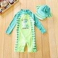 Chilren Costume Da Bagno Bambino Bello Dinosaur Beach Protezione Solare Abbigliamento Per Bambini Rash Guard Baby Boy Costumi Da Bagno E Cappuccio In Un Set