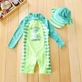 Chilren Swimsuit Baby Boy Handsome Dinosaur Beach Sunscreen Clothing Kids Rash Guard Baby Boy Swimwear And Cap In One Set