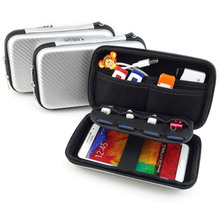 Travel Electronic Gadgets Storage Bag Waterproof EVA for HDD USB Flash Drive SD Card Data