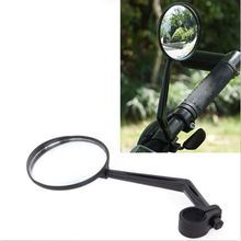 2016 Bicycle Handlebar Wide Angle Universal Rearview Mirror Black Flexible Adjustable Safe Portable Accessories Bike Glass