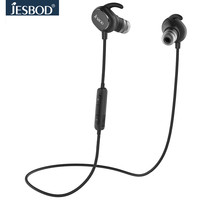 Jesbod QY13 Magnetic Wireless Bluetooth Earphone Noise Cancelling Stereo Headset With Mic Sweatproof Earbuds For Xiaomi