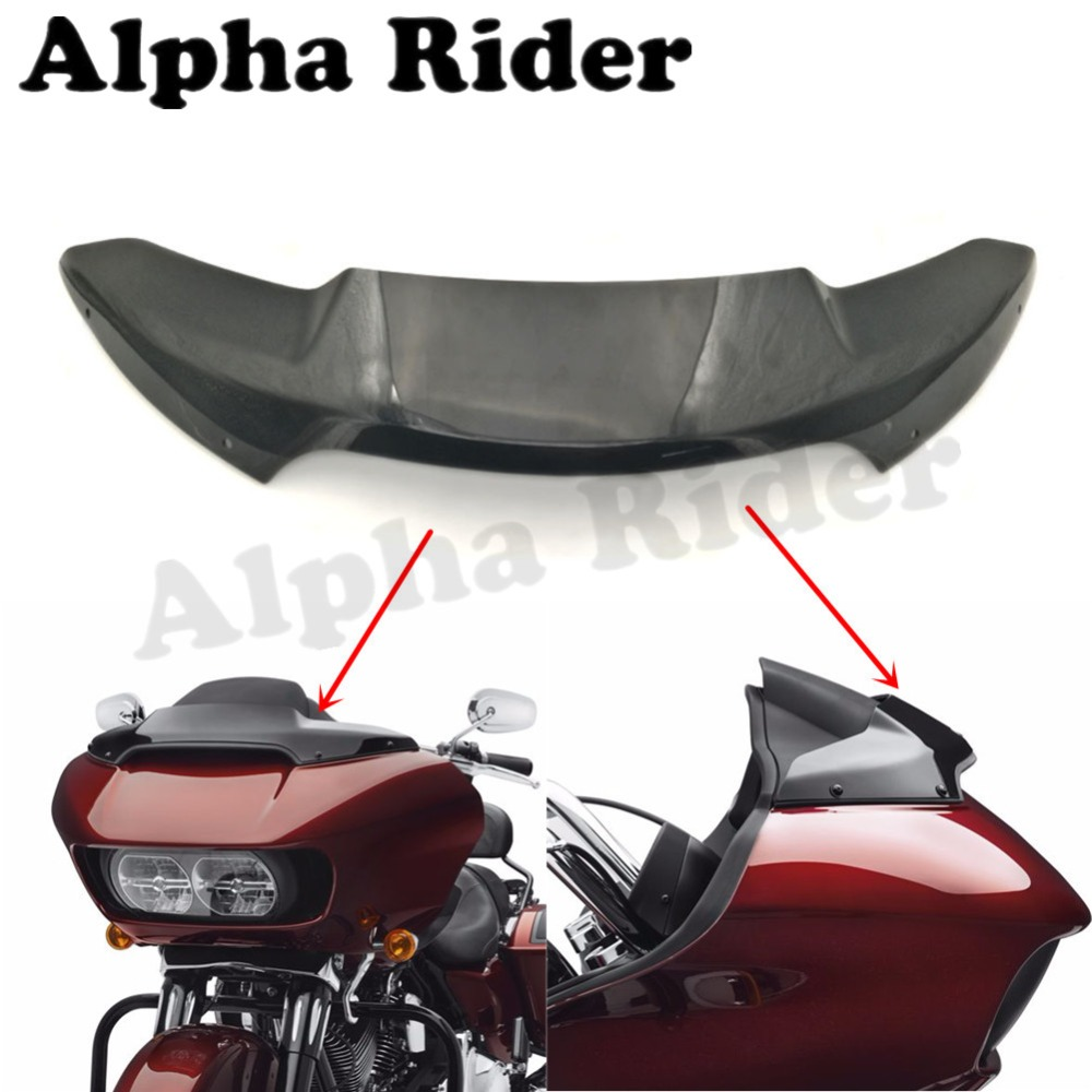 4 Inch Low Profile Windscreen Front Airflow Windshield For Harley Touring Road Glide FLTRUSE FLTRU FLTRXS