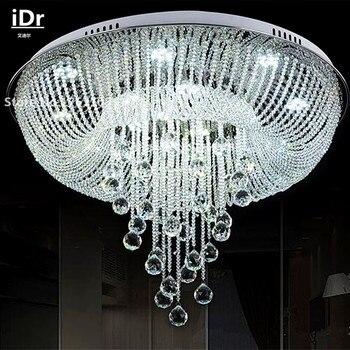 Stylowe okrągłe żyrandole do salonu nowoczesny minimalistyczny moda kryształ lampa led oświetlenie sypialni restauracja iDr-0105