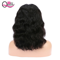 May Queen Brazilian Body Wave Wig Swiss Lace Front Human Hair Wigs With Baby Hair Remy 13x4 Lace Front Wigs Short Bob Wig