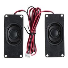 OOTDTY 2X 4 Ohm 3W 3070 Advertising LCD TV Speakers Loudspeaker Rectangle Speaker