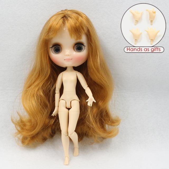 ICY Middie Blythe Кукла Коричневые волосы, соединенные с телом 20cm