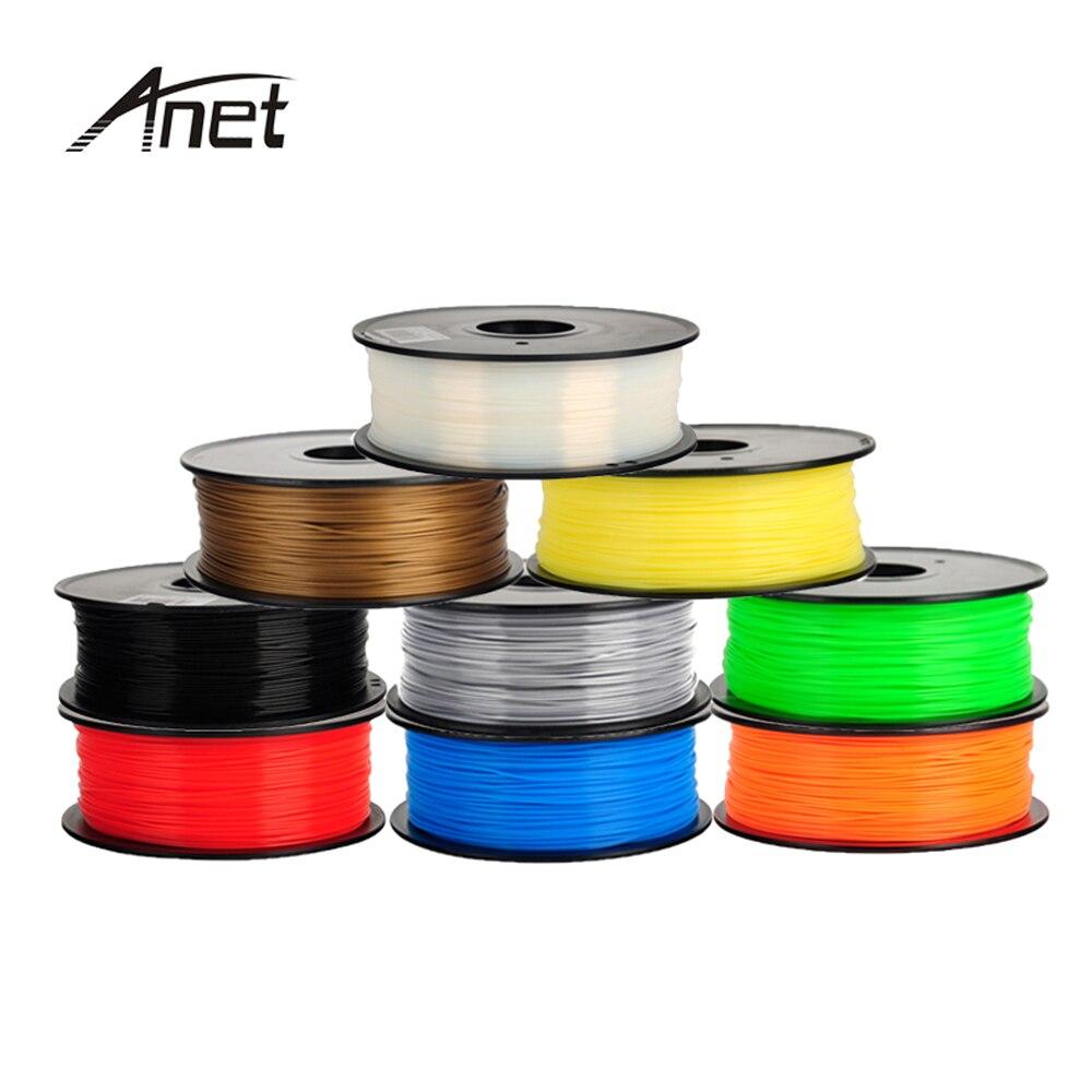 10 Colors Optional Anet 3D Printer PLA Filament Samples 1KG/roll 1.75mm for 3D Printer Filament/3D Pen/Reprap/Makerbot various optional 3d printer pla filament samples 1kg roll 1 75mm 3mm for most 3d printer 3d pens reprap makerbot