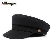 Military-Hat Army-Cap Flat-Top Autumn Black Women Pink Winter Beret Femme High-Quality