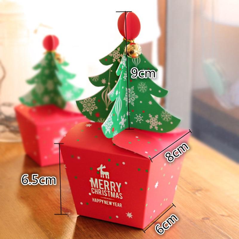 20 teile/los Frohe Weihnachten Baum Geschenk Box, Cookie Cholocate ...
