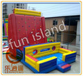 Inflatable climbing wall with obstacle course,inflatable sports