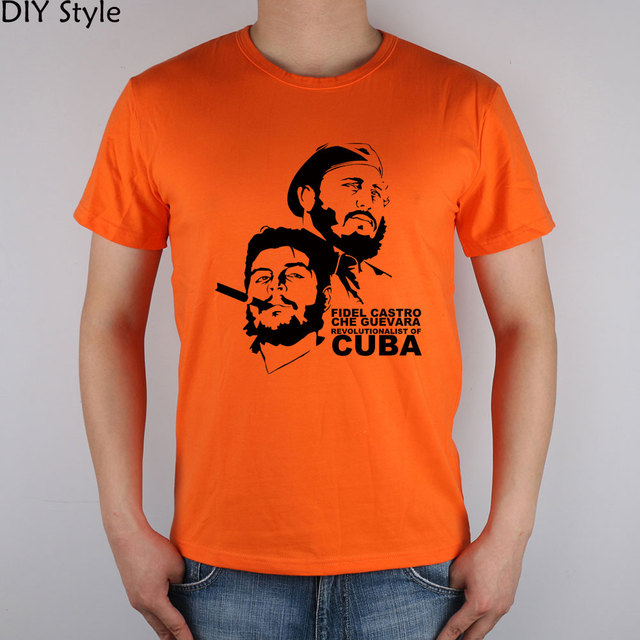 CUBA CUBANO CHE GUEVARA T-shirt top Lycra algodão 5783 camisetas mangas curtas de alta qualidade camiseta Marca de Moda homens