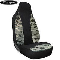 PINSUPERA Atmungsaktive Camouflage Mesh Sitzbezüge Universal Fit für Die Meisten Auto, lkw, SUV, oder Van (Seite Airbag Kompatibel)-1 stück
