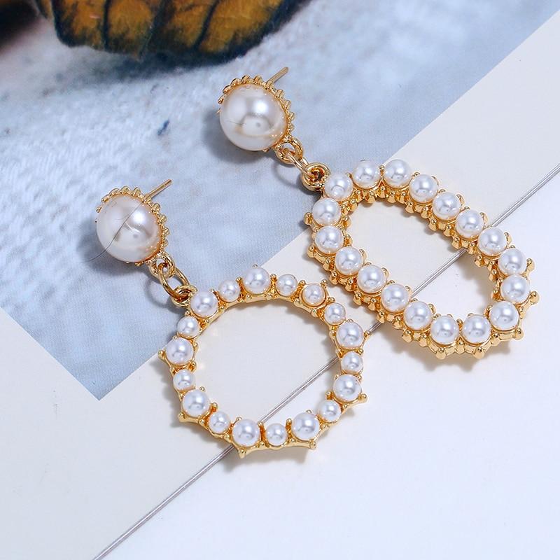 Pearl Dangle Earrings (5)