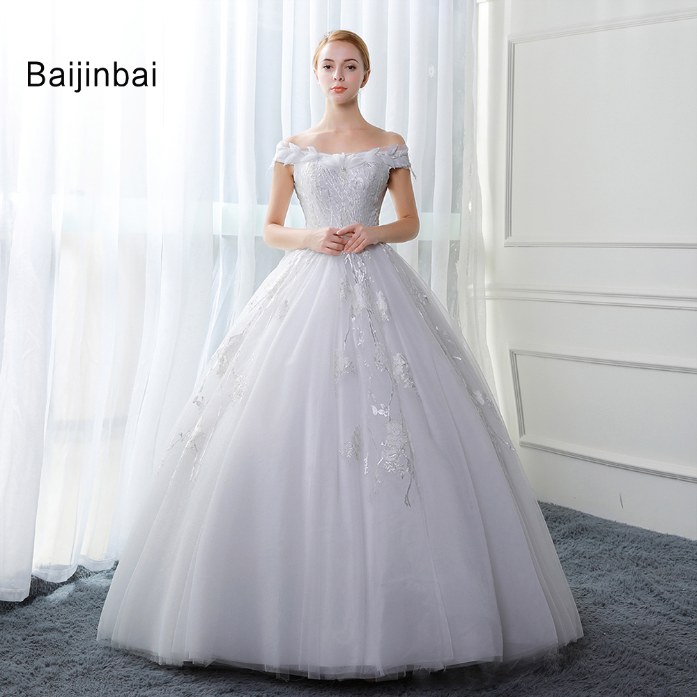 Baijinbai robe de mariage luxury crystals white wedding for Aliexpress robes de mariage