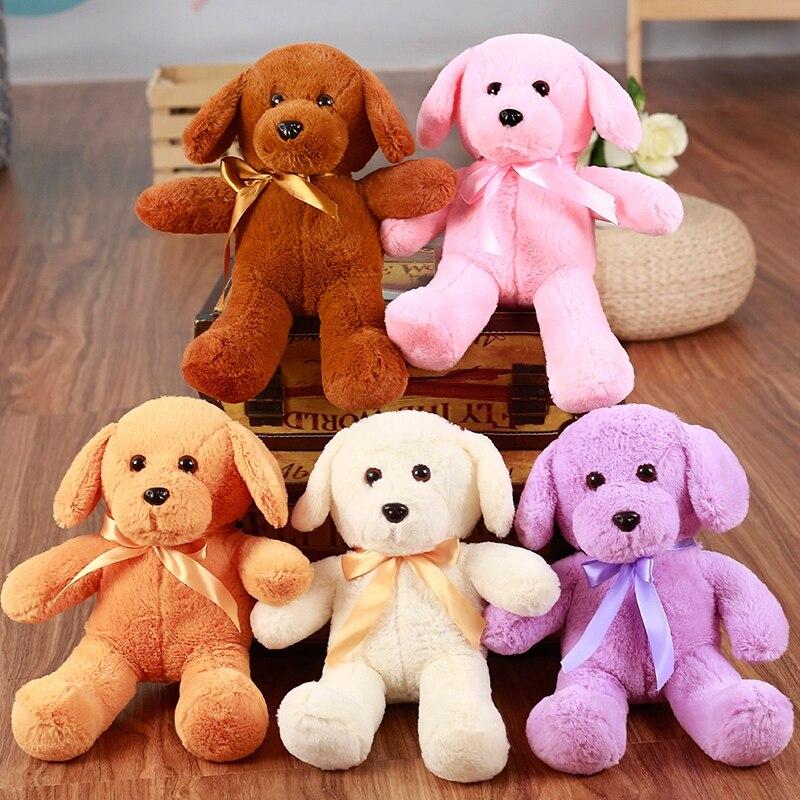 1PC 35cm Kawaii Teddy Dog Plush Toy Cute Staffed Animal Toy Kids Baby Sleeping Doll Birthday Gift for Girls Children
