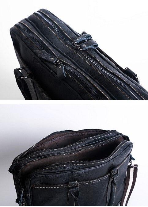 Aus Computer Black orange Erste Männer Handgemachte Leder brown Handtaschen Aktentaschen Retro Tasche Schicht Ursprünglichen Vintage w0a7vxw