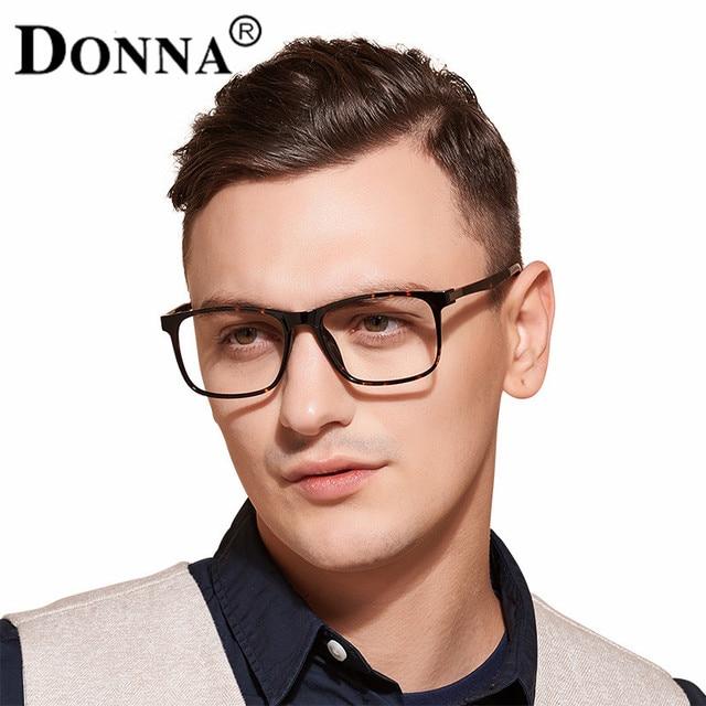 df2b097ab02 Donna TR90 Men Glasses Frame Vintage Optical Brand Myopia Designer Clear  Eyeglasses Frame