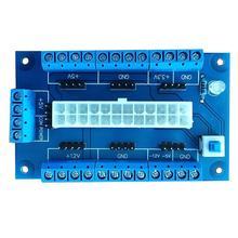 핫 PC 24/20Pin ATX DC 전원 공급 장치 브레이크 아웃 보드 모듈 어댑터 DIY 액세서리