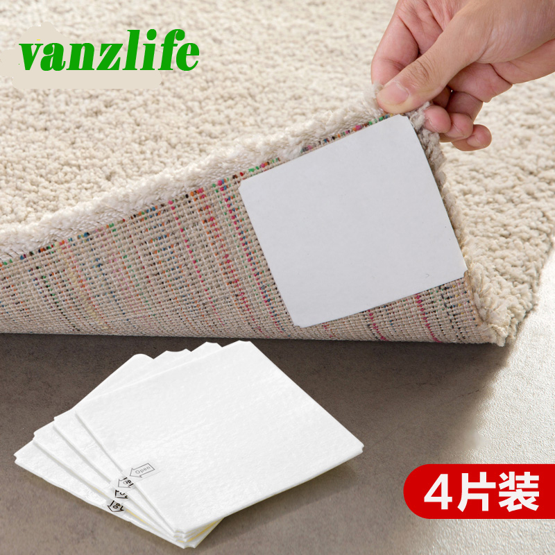 vanzlife fixed carpet super viscous double-sided adhesive strong mat  tape anti-slip paste ground non-woven tape 4 pieces a lot 10m super strong waterproof self adhesive double sided foam tape for car trim scotch