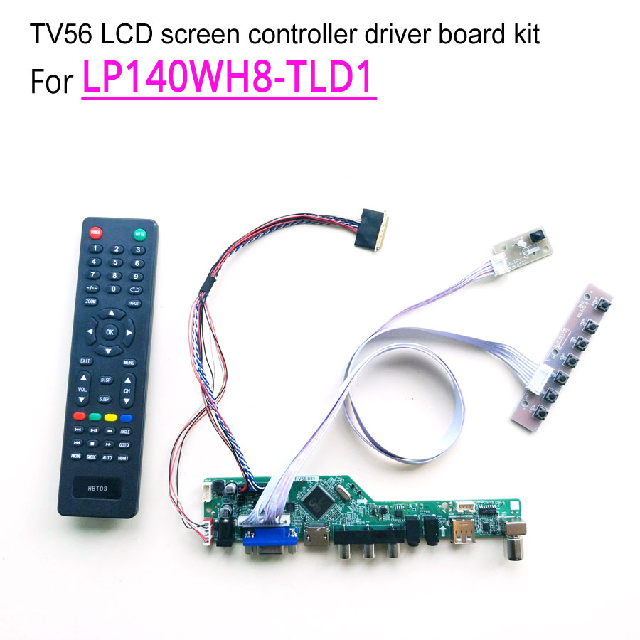 For LP140WH8 TLD1 14 60Hz LVDS 1366 768 laptop LCD screen 40 pin WLED HDMI VGA