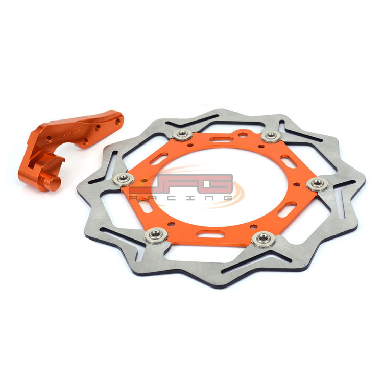 270mm Front Floating Brake Disc Rotor + Bracket For KTM SX GS EXC LC4 XC F SXS MXC Motocross Enduro Dirt bike Off Road front brake disc rotor for ktm 380 exc 1998 1999 2000 2001 2002 sx mxc 1998 2001 400 egs exc g xc w 2007 2008 2009 07 08 09