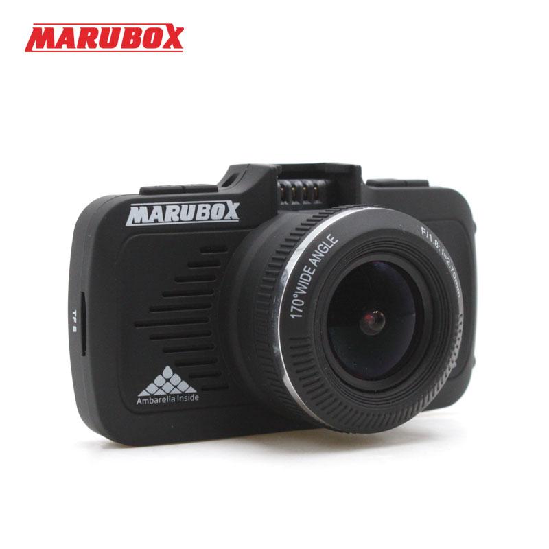 Marubox M330GPS Car DVR GPS 2 In 1 Super Full HD 1296P 170 Degree Angle Russian Language Video Recorder Car Registrator Dash Cam