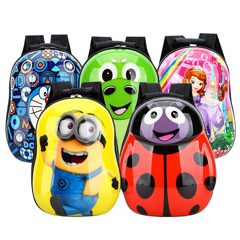 Cartoon backpack Kindergarten bag 13 inch school bag printing backpack Cartoon characters Cute bag of children ME675