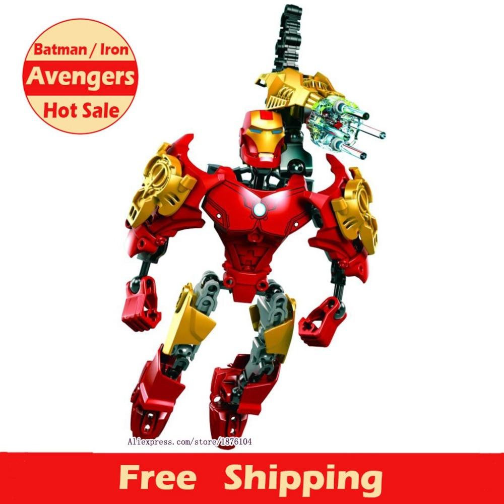 2016 Hot Sell New Arrival Super Heroes Avengers Building Blocks Children Toys Iron Man Batman Captain America For Kids Birthday