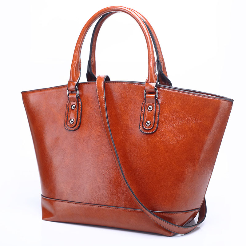 DIMINUTIVE 2018 Limit discounts Women Genuine Leather Handbag Causal Tote Female Shoulder Bag Vintage High Quality Strap Handbag