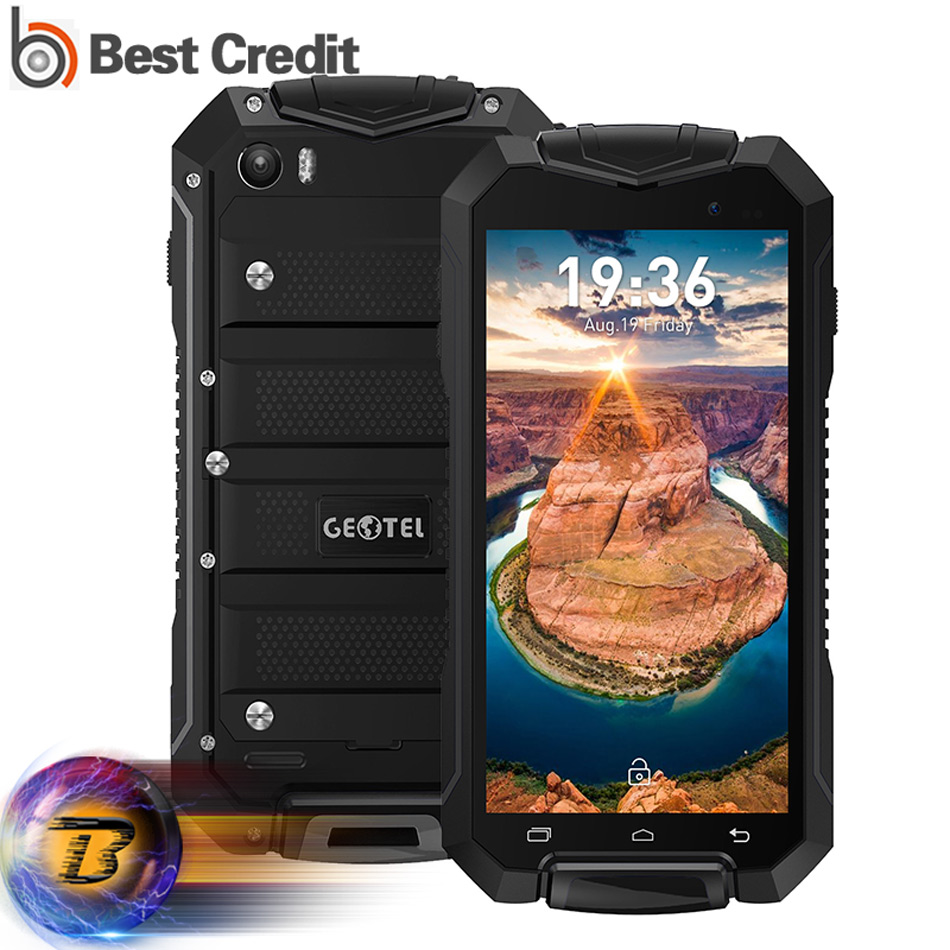 New Geotel A1 Android 7.0 Smartphone  IP67 Waterproof 4.5'' MTK6580M Quad-core 1GB+8GB 1.3GHz 3G 3400mAh Battery Mobile phone