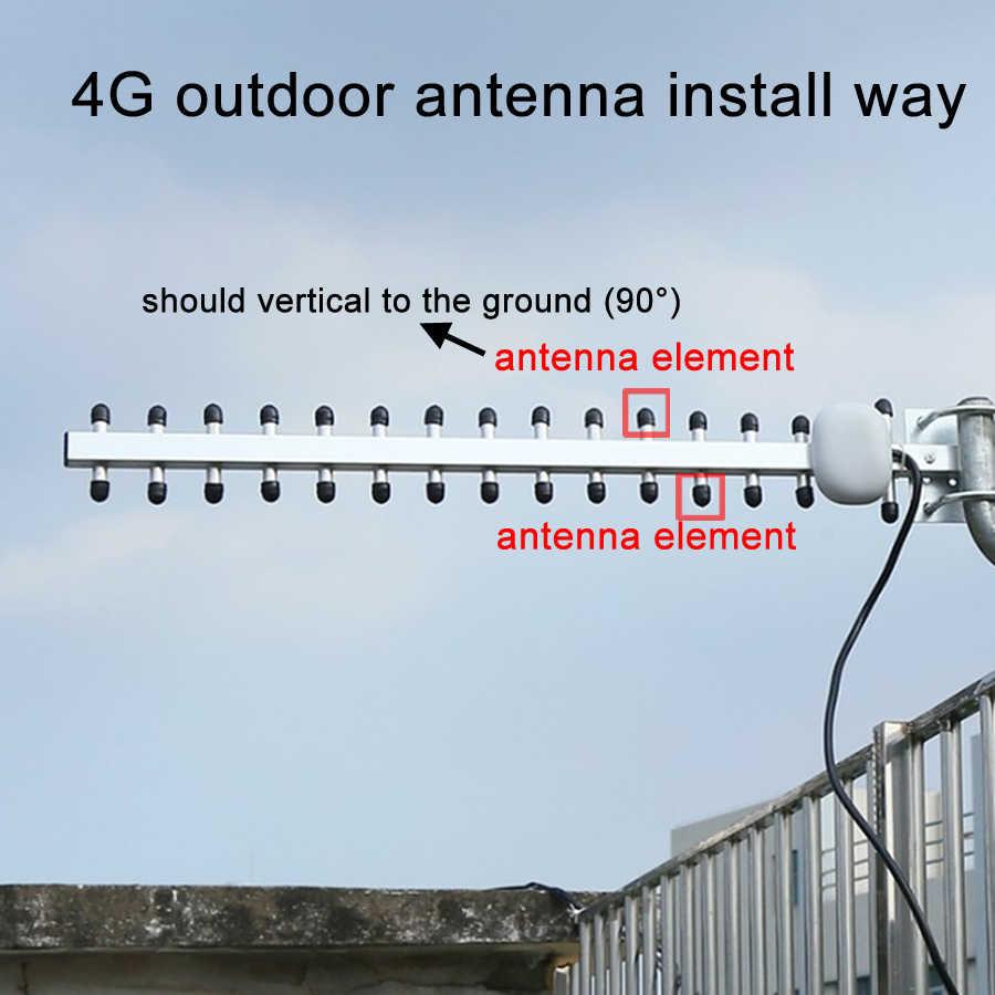 400G Antenna Yagi Exterior 400dbi 400G LTE SMA Male Outdoor RG40 40.40m ...