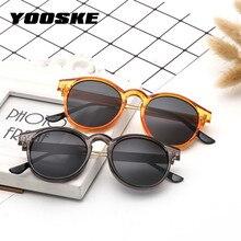 YOOSKE Brand Round Sunglasses Men Women Unisex Retro Vintage