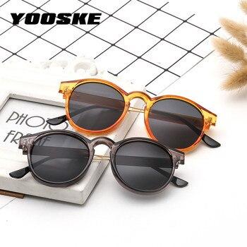 f23798c5f5 YOOSKE marca gafas de sol redondas hombres mujeres Unisex Retro Vintage  diseño gafas de sol pequeñas para hombres conducción gafas de sol señoras  sombras