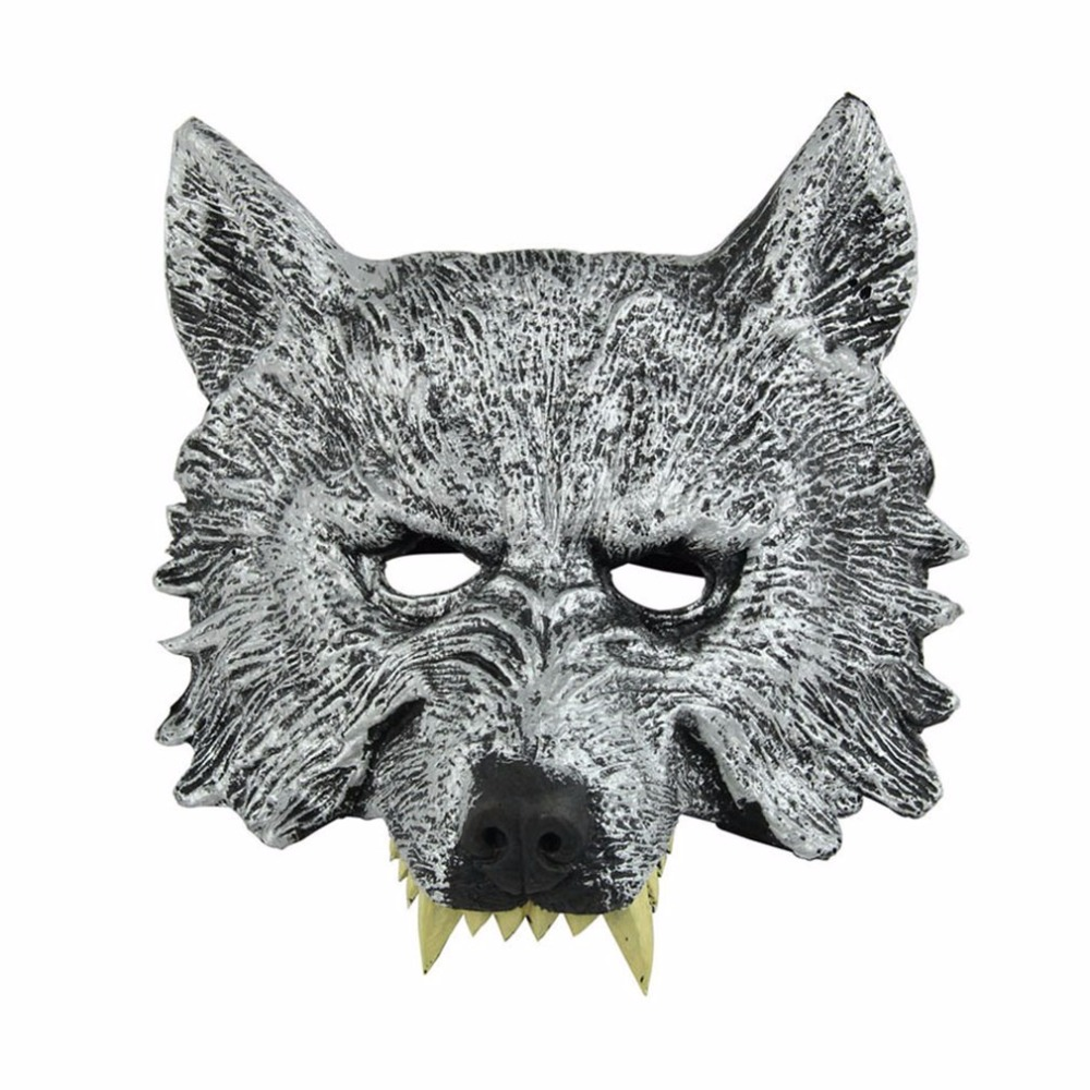 Halloween Ferocious Wolf Head Mask Horrible Series Masquerade Dancing Parties Stylish Props For Recreation Festival Decorations