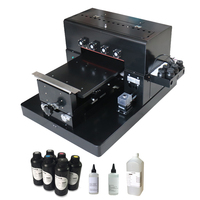 A3 size LED UV Printer Flatbed Printer 6 Colors For Metal/Plastic Case/T shirts/Phone Case and Pen etc with UV lamp dry