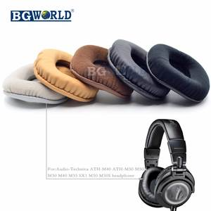 d95c8f9afa4 BGWORLD Ear Pads For Audio Technica ATH M40 M50 M40X M50X M30 M35 SX1 M50S  Dj Headphone