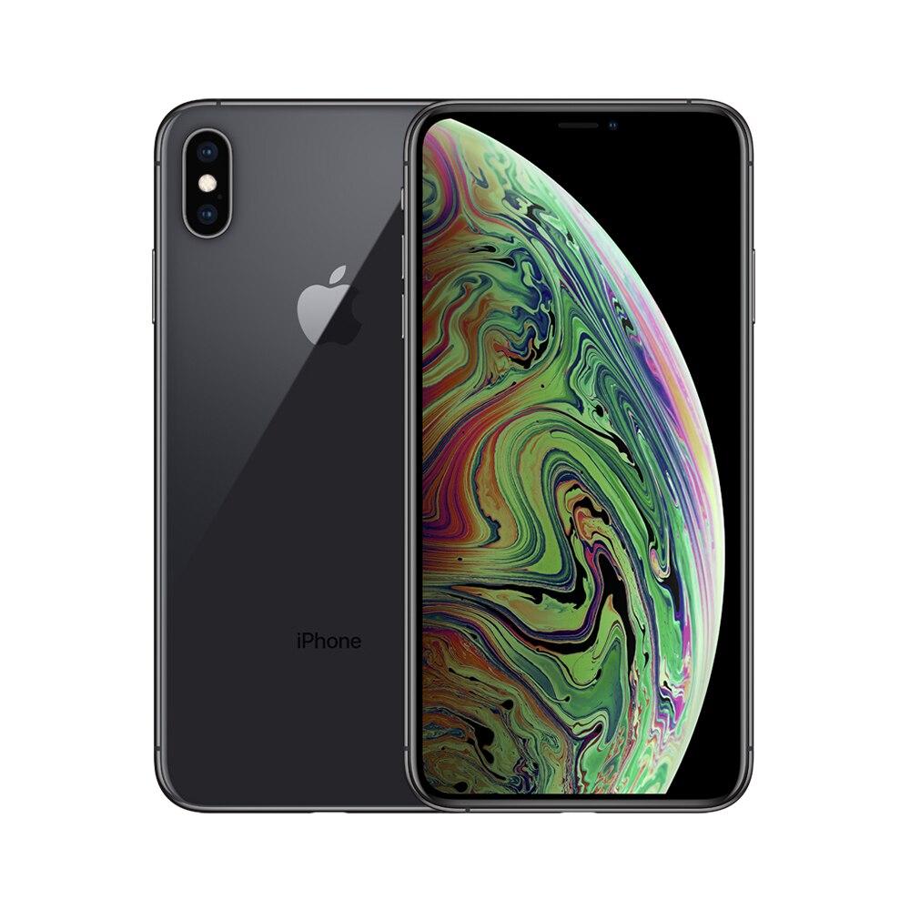 Apple iPhone XS Max | double Sim cartes Smartphone 2018 entièrement débloqué 6.5 pouces grand écran 4G Lte Apple téléphone intelligent