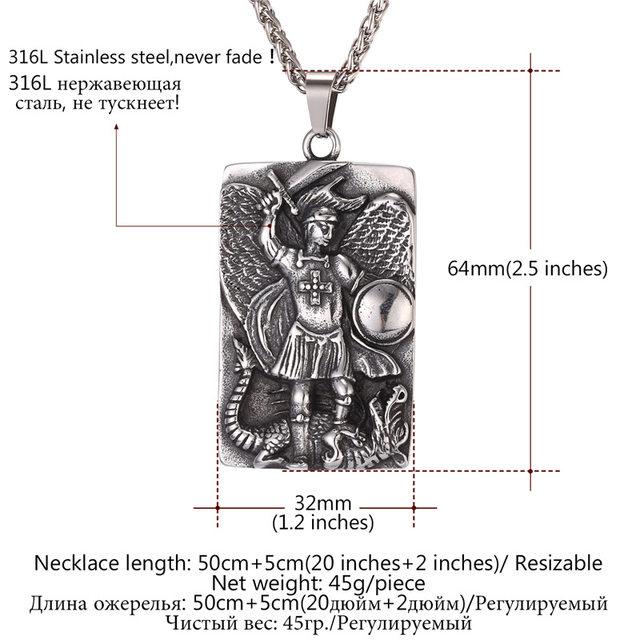 Online shop collare st michael pendants men tags goldblack color collare st michael pendants men tags goldblack color jewelry stainless steel taxiarch archangel michael necklaces women p087 aloadofball Choice Image