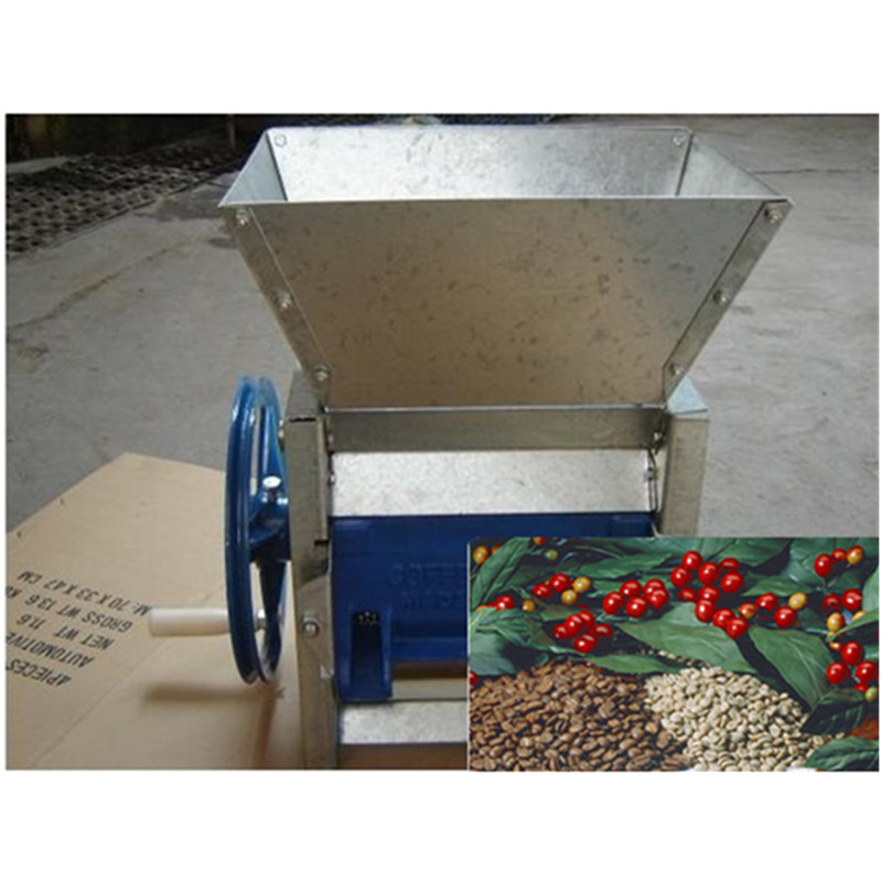 Coffee processing machinery manual fresh coffee bean sheller machine manual fresh coffee beans peeling pulping pulper machine cocoa bean extractor coffee sheller