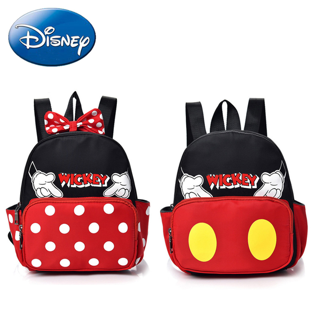 4fc5dd09804c 2018 New Minnie Mickey Mouse Shape Backpacks Girls Boys Kids Cartoon School  Bags Children Kindergarten Nylon Nursery Book Bag